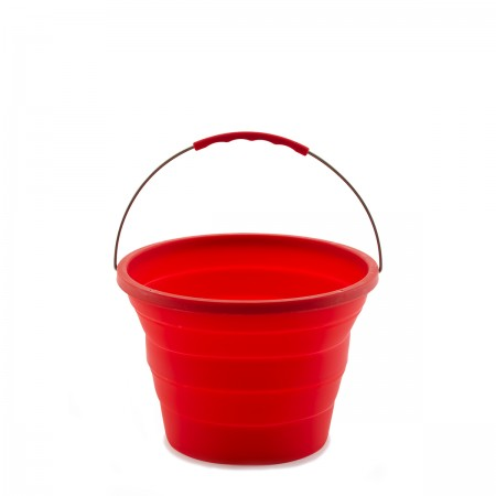 Folding_camping_bucket_red