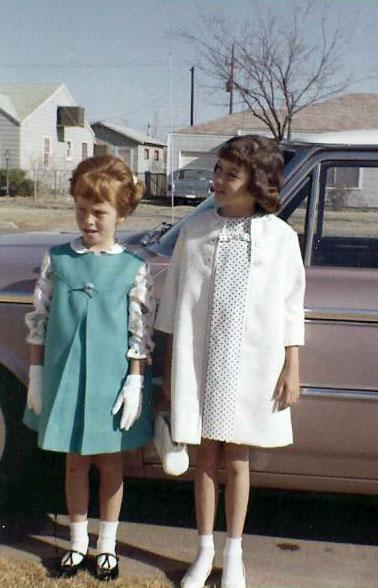 Easter April 1964 Phyllis & Debby
