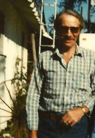 1981 October John Dayton outside 1006 Nassau Street Plainview TX